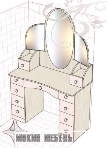 Туалетный столик эскиз