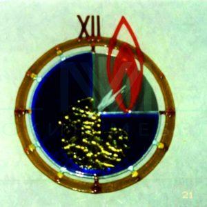 элемент витража - часы