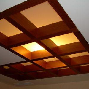 потолочный витраж с подсветкой