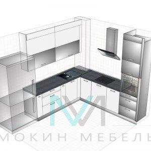 "Эскиз - Кухня в стиле техно ""Металлик"""