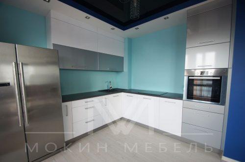 Кухня в стиле техно Металлик