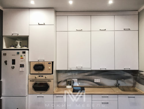 Кухня Белоснежный Модерн